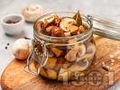 Рецепта Мариновани гъби печурки в бурканчета с оцет, олио и чесън (зимнина)